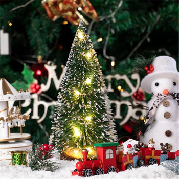 Durable environmentally friendly party decoration Christmas Decorations Desktop Decoration With LED Lights Mini Christmas Tree image