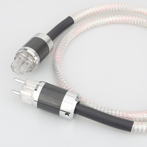 Image 4 - Hi End Valhalla power line HIFI POWER CABLE 7N OFC Power Cord with EU Plug Amplifier CD, Decoder, Power Wire