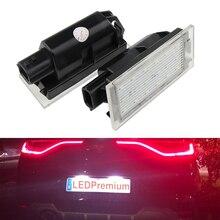 2x Светодиодный фонарь номерного знака для Renault Megane 4 IV Fastback Canbus