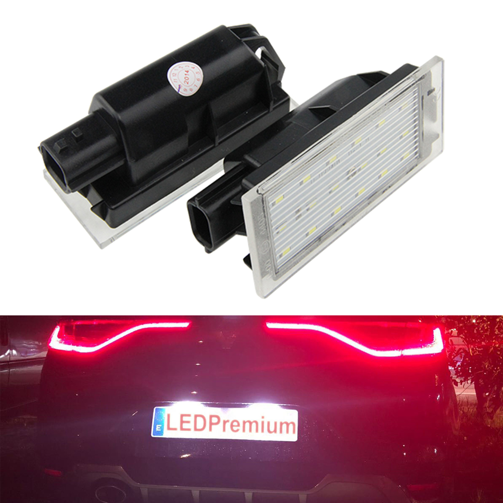 2x luz de la placa del número de la licencia LED para Renault Megane 4 IV Fastback Canbus ELM327 ELM 327 V1.5 de plástico OBDII EOBD CANBUS escáner sin FT232RL Chip