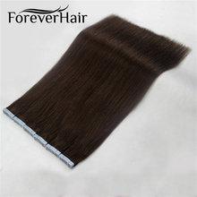 Sonsuza kadar saç cilt atkı yapıştırıcılar Remy bant saç ekleme çift taraflı 20