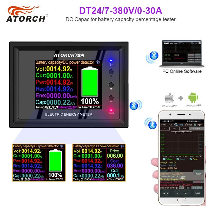 ATORCH Digital Display DC Power Supply Voltmeter Ammeter Battery Capacity Tester Battery Fuel Gauge Power Meter