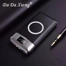 Беспроводное зарядное устройство 30000 мАч, внешний аккумулятор, встроенное Беспроводное зарядное устройство, портативное зарядное устройство для iPhone8 x note9, 2020