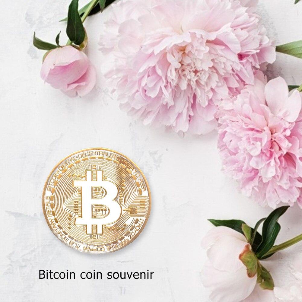 Gold Überzogene Bitcoin Münze Souvenirs BTC Metall Physikalische Sammlung Kunstwerk Antike Nachahmung Gedenk Bit Münze Exquisite Geschenk