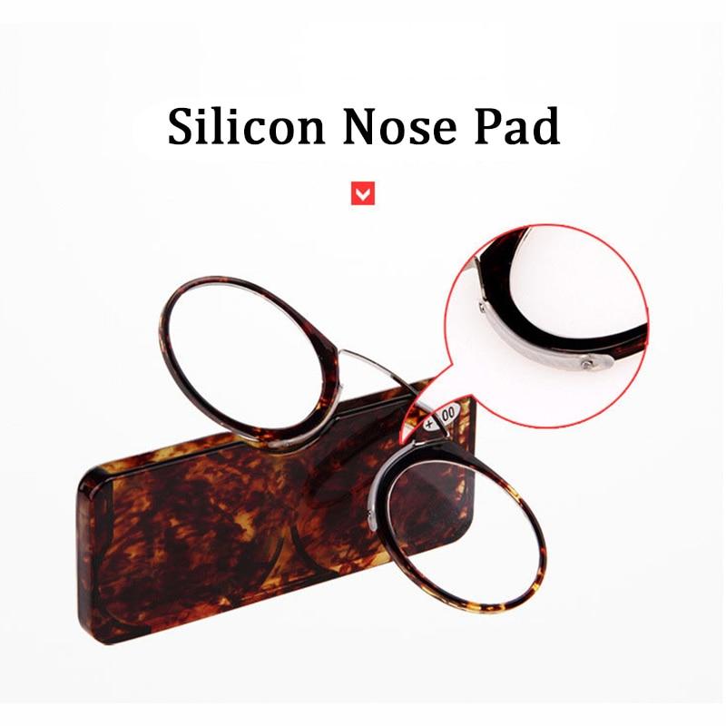 Клип нос мини очки для чтения мужчины женщины читатели очки по рецепту очки без бакенбардов Pince-nez 1,0 1,5 2,0