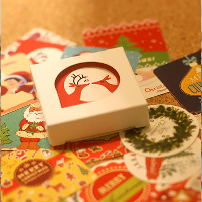Mohamm 38PCS Box Sticker Christmas Collection Sticky Notes Decoration Sticker Diary Sticker Baking