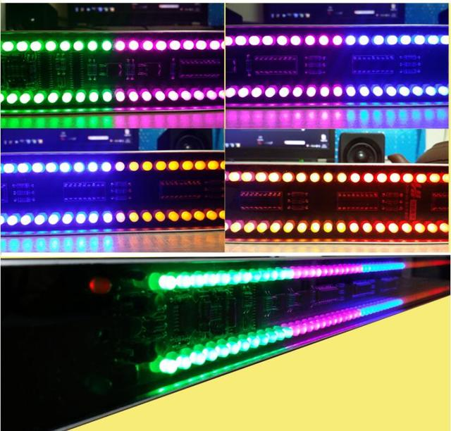 GHXAMP 120 LED Level Indicator Stereo Sound Control Audio Music Spectrum electronic VU Meter LED music rhythm volume 5V Case
