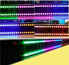 Ghxamp indicador de led 120, controle de som estéreo, espectro de áudio musical, medidor eletrônico de led, ritmo musical, volume 5v capa com estojo