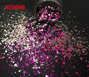 Image 5 - 5 FARBEN Chameleon Glitter Mixed Metallic Glanz Hexagon Form Nail art für Handwerk Dekorationen Make Up Facepainting DIY Zubehör