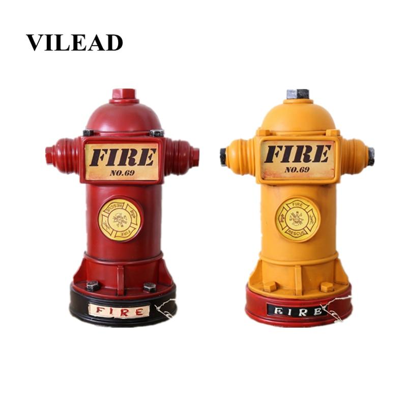 VILEAD 24cm figuras de hidrante de fuego de resina alcancía extintor de fuego ornamento creativo regalo para decoración de niños