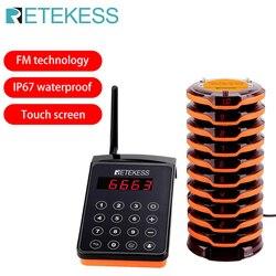 Retekess td156 fm restaurante pager sistema de chamada sem fio garçom pagers para café restaurante clínica fila equipamentos