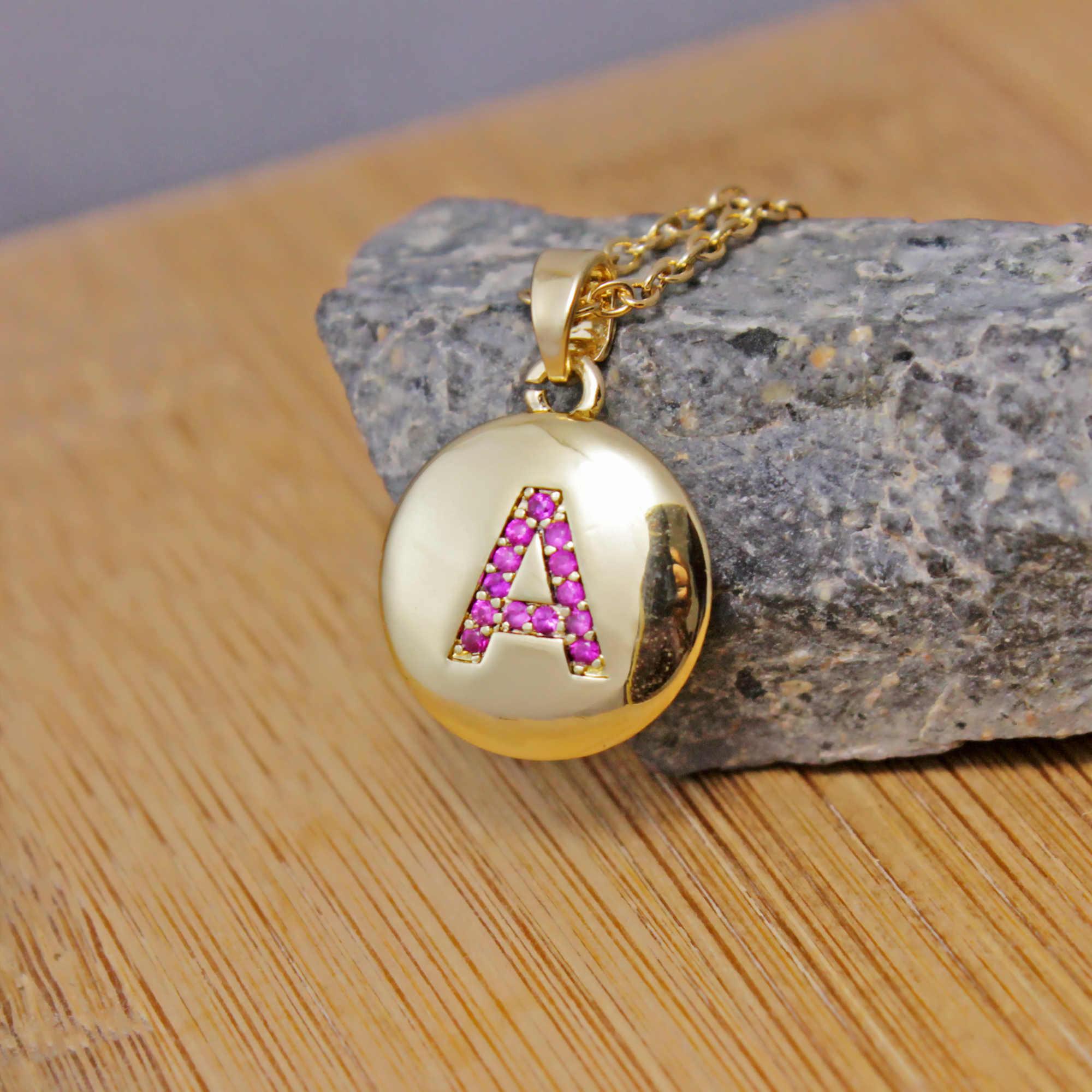 זעיר זהב ראשוני שרשרת זהב מכתב שרשרת ראשי תיבות שם שרשראות אישית תליון לנשים בנות הטוב ביותר מתנת יום הולדת