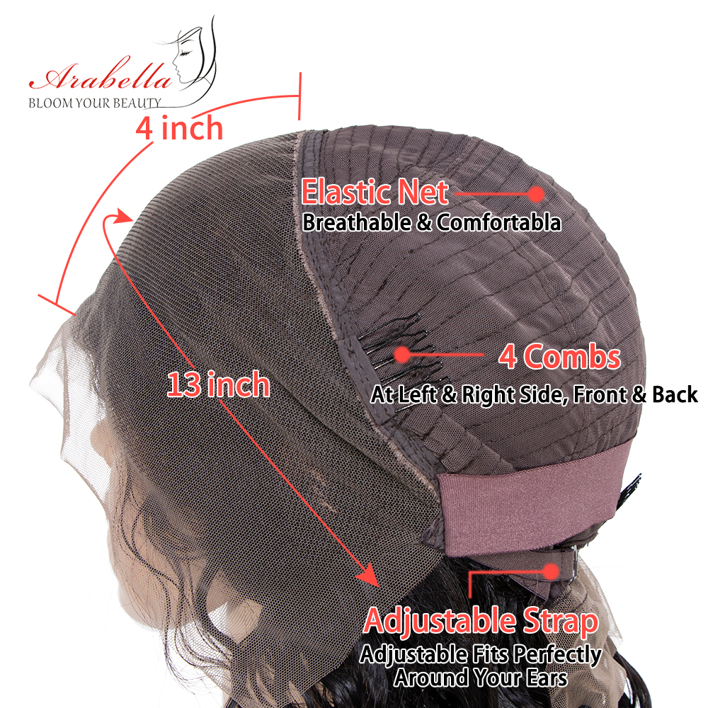 Arabella 1B/27 Straight Hair Lace Front Wig With Baby Hair Pre Plucked  Hair 13*4 Lace Front Wig Colored  Lace Wig 6