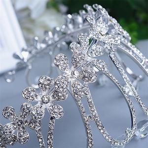 Image 5 - Crystal Crown Tiara Head Jewelry Hair Accessories Diadem Mariage Bijoux De Tete Cheveux Corona Casamento WIGO0719
