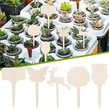 10ПК смешанные деревянные знаки креатив садоводство суккуленты бирки могут быть написаны и вставлены в землю украшение +% D0% BA% D1% 83% D0% BA% D0% BE% D0% BB% D1% 8C% D0% BD% D1% 8B% D0% B9 40% 2A