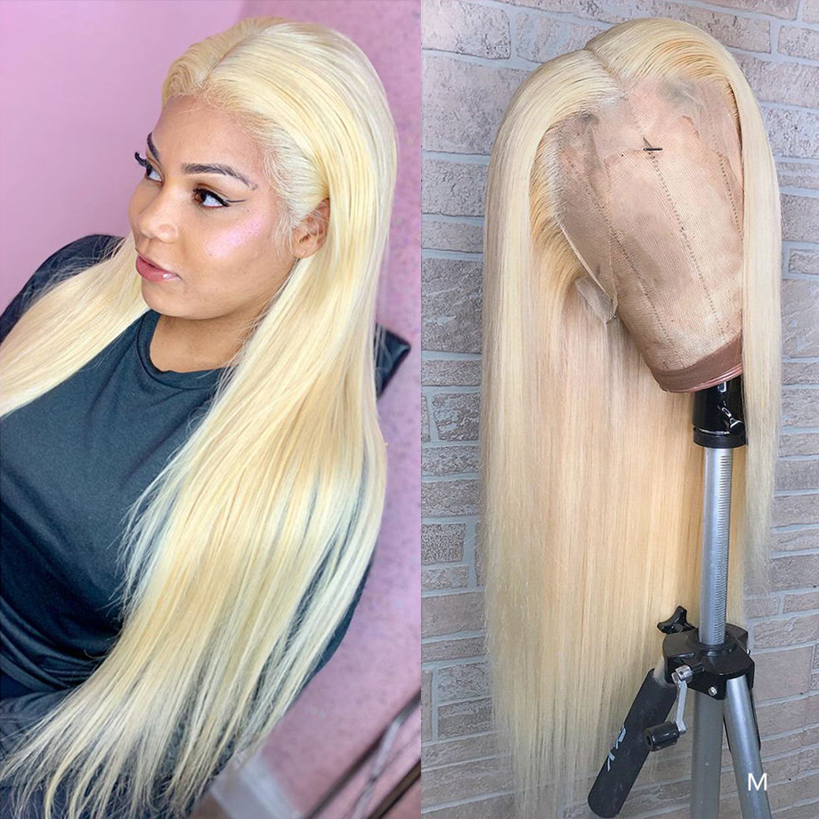 613 Lace Front Wig Blonde Wig Human Hair Wigs Straight 613 Blonde Human Hair Wig Human Lace Front Straight With Baby Hair Wigs