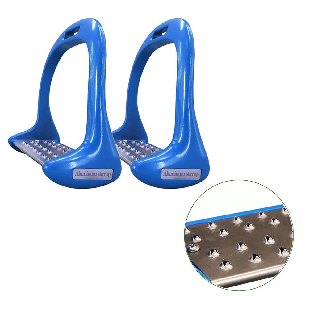 1 Pair Anti Slip Treads Equipment Lightweight Aluminium Alloy Pedal Horse Stirrups Thickened Saddle Equestrian Safety Riding