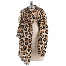2019 Women Fashion Leopard Dot Tassel Viscose Shawl Scarf Ladies Print Soft Warmer Wrap 9.16