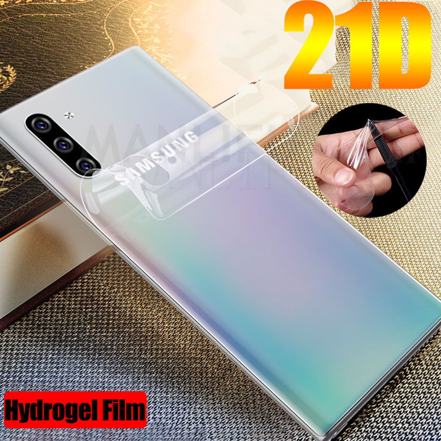 Soft-Tpu-Film Screen-Protector Hydrogel Front-Back 10-Sticker Galaxy A50 Silicone Note-10