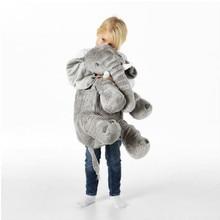 Enfants éléphant oreiller doux grand éléphant jouets animaux en peluche jouets en peluche bébé en peluche poupée jouets pour bébés enfants cadeau livraison directe