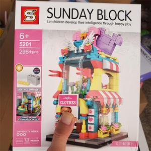 Блоки SEMBO, новый уличный мини Магазин, кофейные Строительные кирпичи для детей, игрушечный хлебный магазин, детские игрушки, подарок для дев...