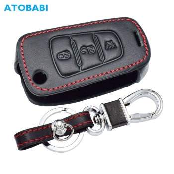 Genuine Leather Car Key Case For Great Wall Haval Hover H1 H3 H6 H2 H5 C50 C30 3 Buttons Folding Keychain Remote Control Cover - discount item  5% OFF Interior Accessories