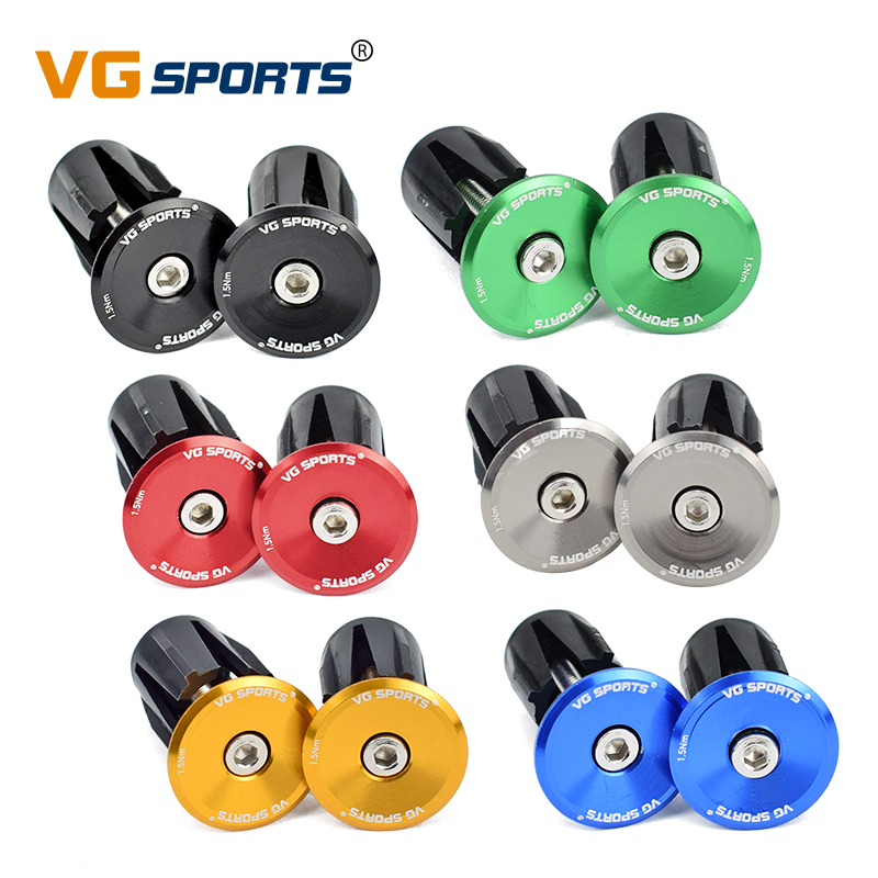 One Pair Pro Bicycle Aluminum Handlebar Grips Handle Bar Cap End Plugs Stoppers