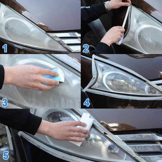 10ML Car Styling Headlight Polish Liquid Cars Restoration Agent Scratch Repair Kit Brightening Headlight Repair Lamp Paint Care 3