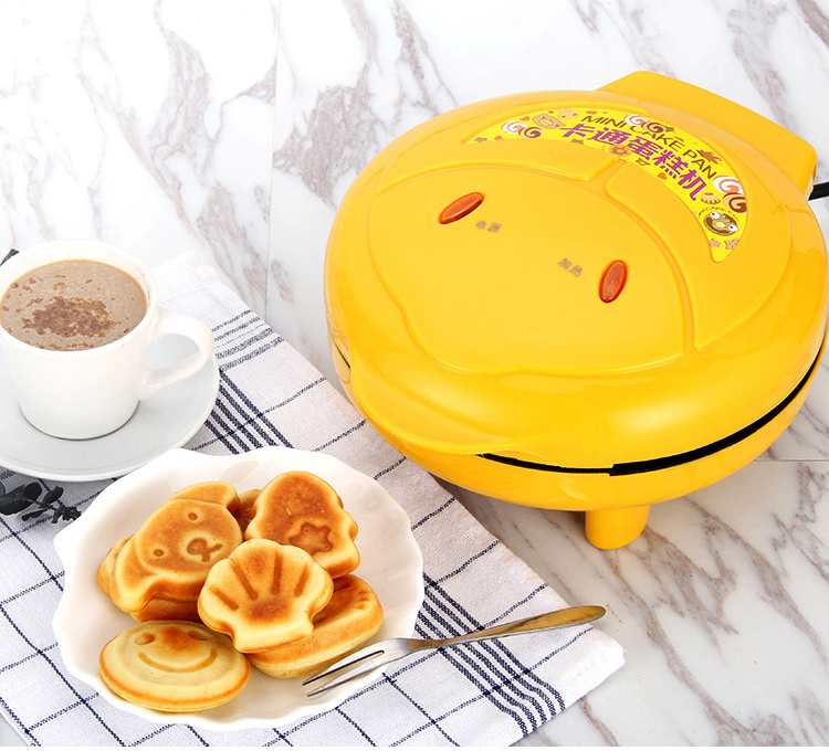 Children Mini Cartoon Waffle Maker Cake Machine With Double Sided Heating To Making Breakfast 11