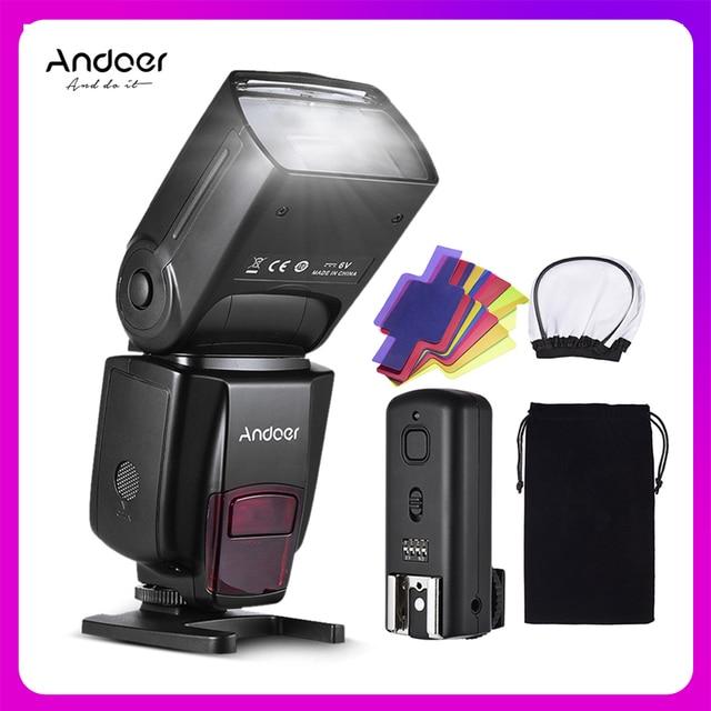 Andoer AD560 IV Pro على الكاميرا Speedlite ضوء فلاش فلاش الزناد اللون مرشحات الناشر الحذاء الساخن لكانون نيكون سوني كاميرا
