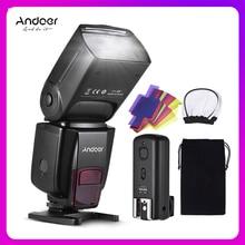 Andoer AD560 IV פרו על מצלמה Speedlite פלאש אור פלאש טריגר צבע מסנני מפזר חם נעל עבור Canon ניקון sony מצלמה