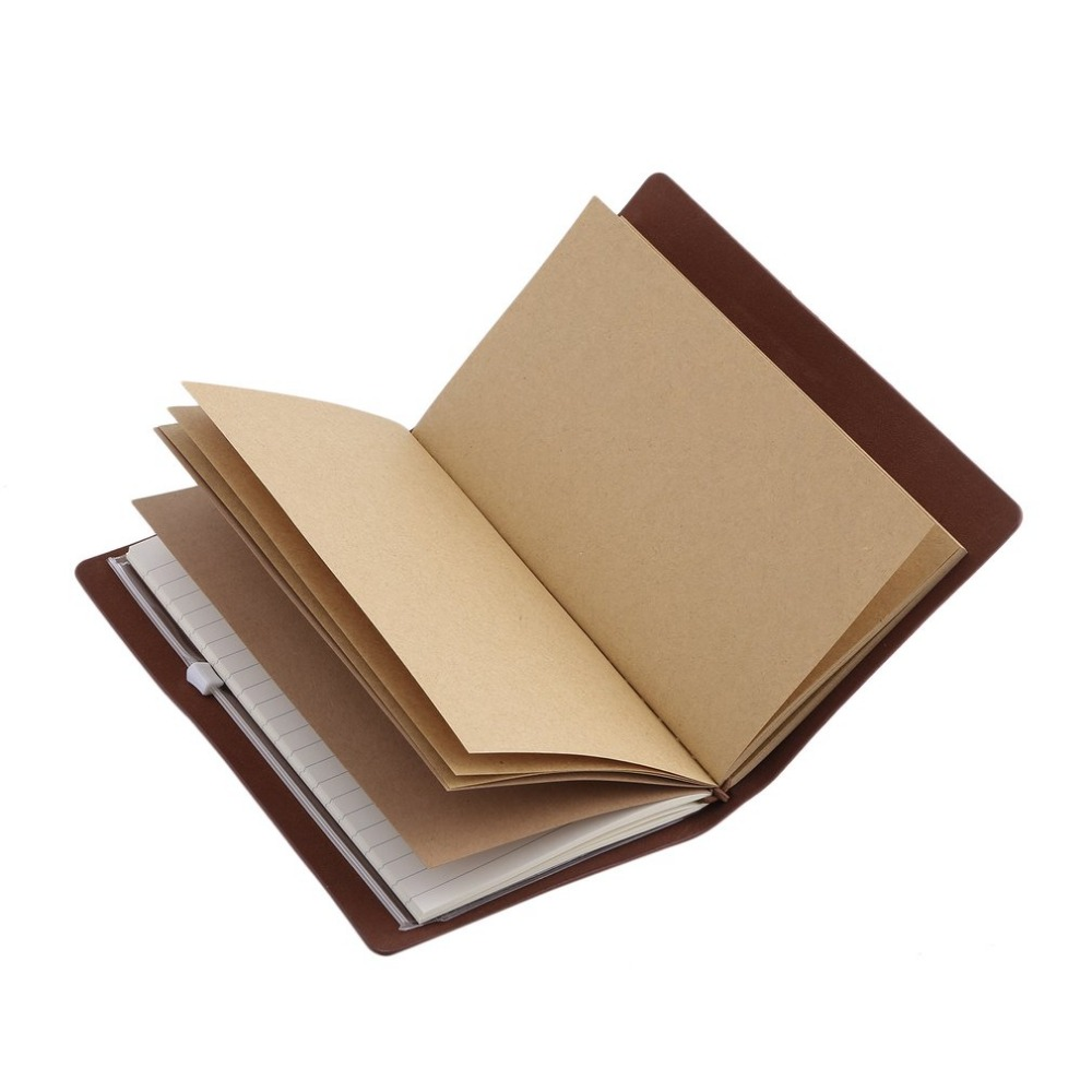 Vintage Hardcover Notebook Spiral Faux Leather Dairy Note Book School Office Supply For Students Business Notebooks Making Notes