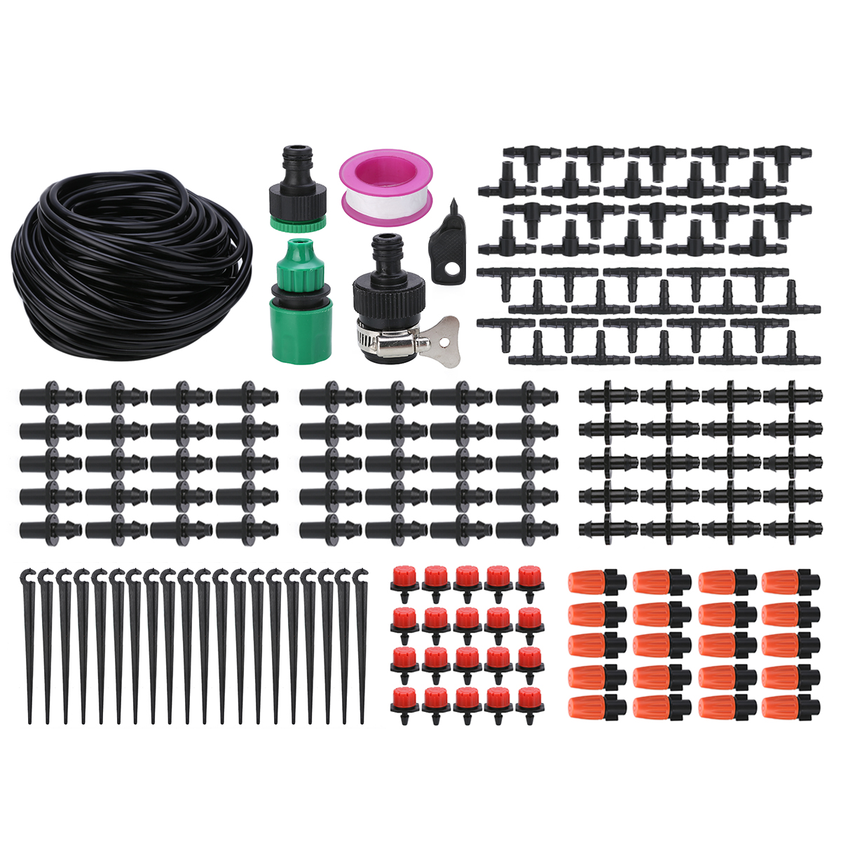 Mayitr 15m Automatic Watering Irrigation DIY Drip System Kit Outdoor Garden Dripper Irrigation Watering Kits