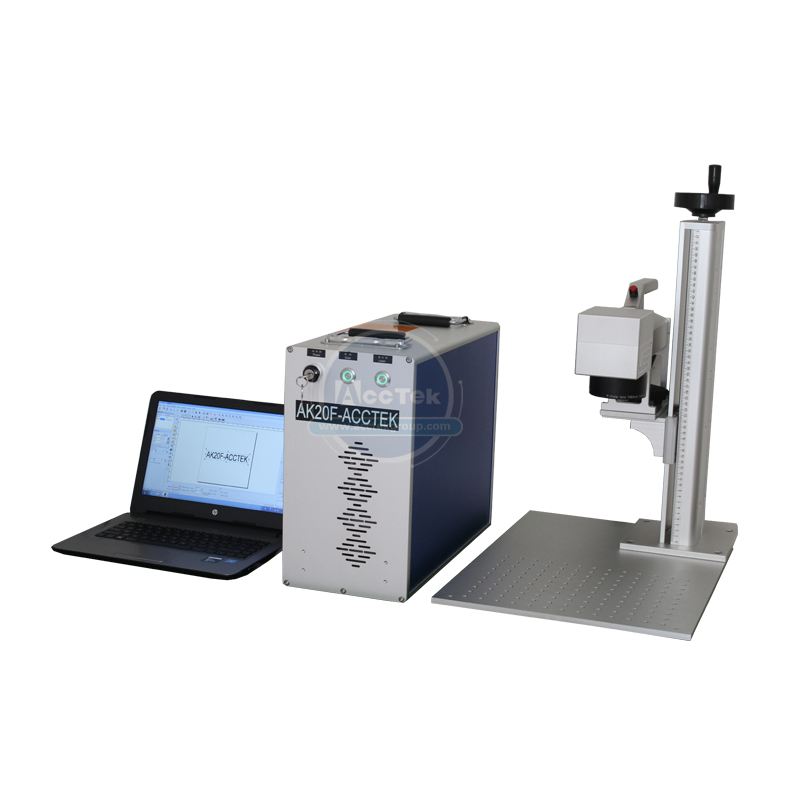 High Precise 20W Laser Marking Machine For Printing Circuit Board Mobile Phone Shell Fiber Laser Engraver