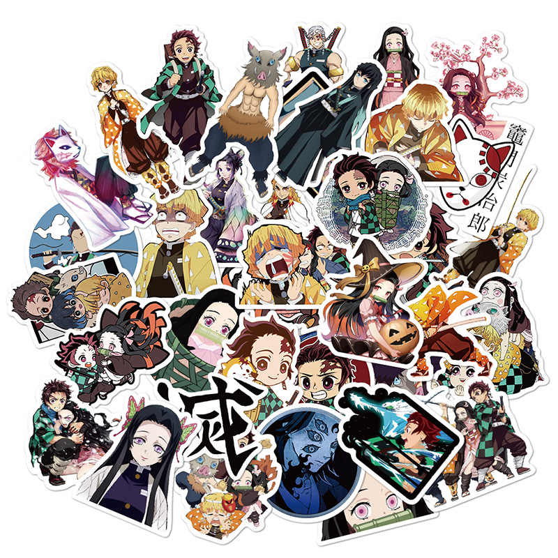 10/30/50Pcs Nieuwe Japan Anime Kimetsu Geen Yaiba Stickers Voor Laptop Skateboard Auto Fiets Kofferbak Demon blade Slayer Decal Sticker