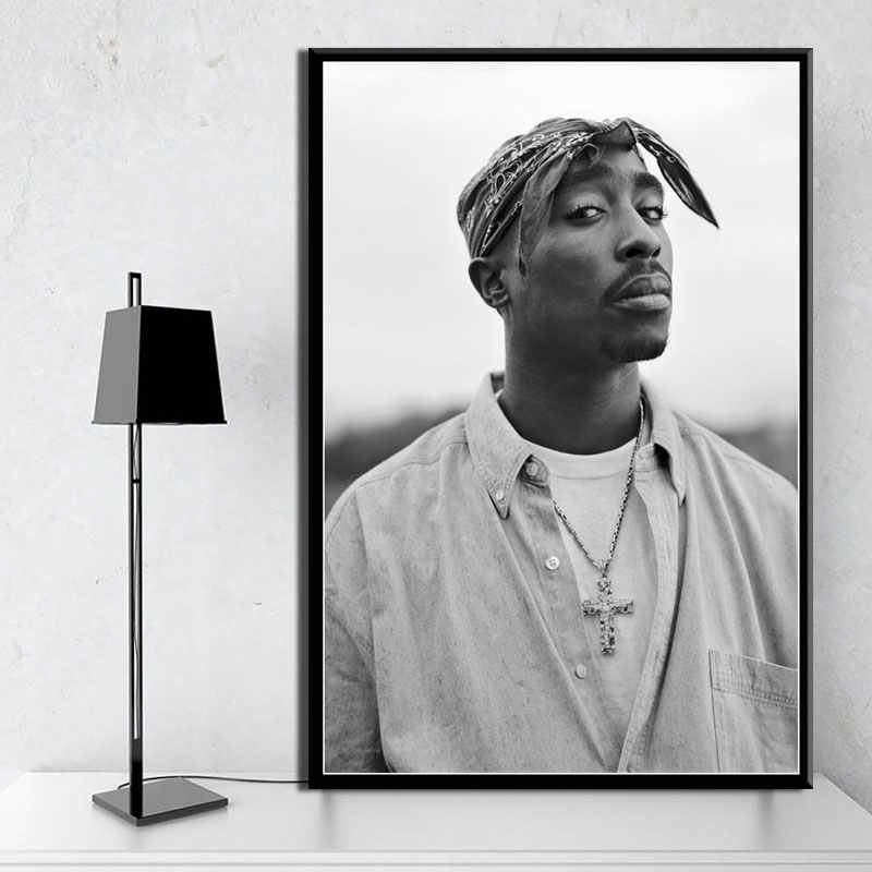 Tupac Shakur 2PAC Outlaw рэп музыкальный Рэппер звезда хип хоп Искусство Живопись Шелковый Холст плакат настенный домашний декор