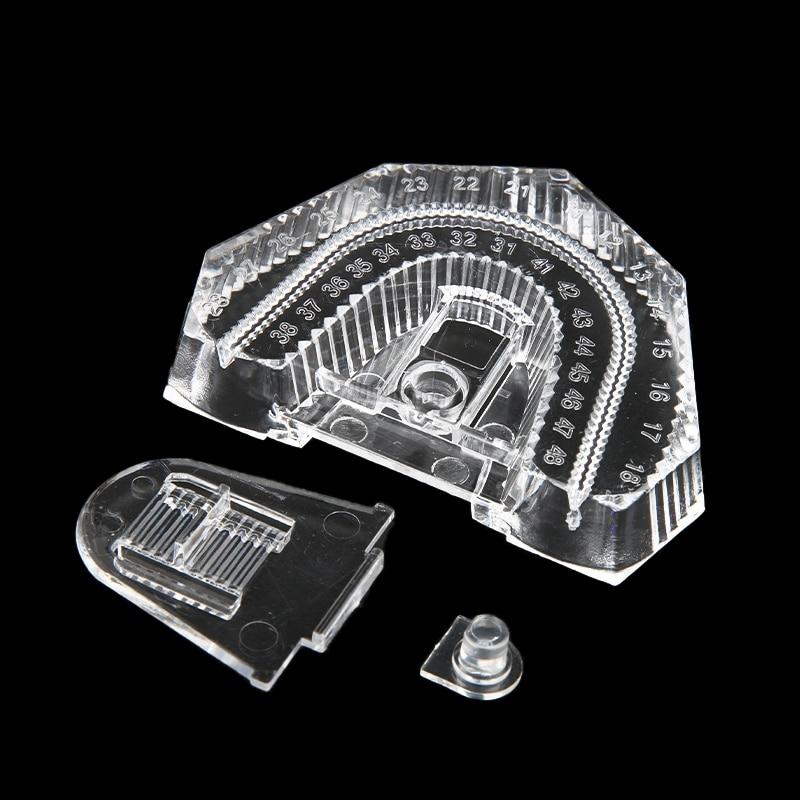 50 pces dental modelo transparente inferior molde material de laboratorio plastico forte dental inferior molde modelo