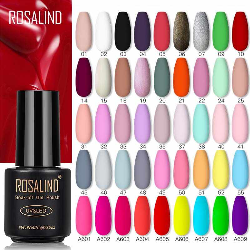 Rosalind Nail Gel Polish Lamp Gel Polish Voor Nails Art Manicure Met Matt Base Top Coat Voor Semi Permanant Vernissen gellak
