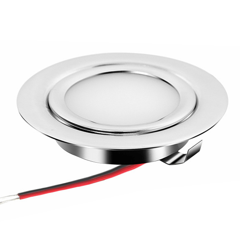 Stainless Steel IP65 3W 12V Slim 14mm Mini LED Downlight 2.5inch Kitchen Dining Cabinet Lighting