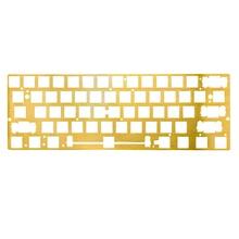 GK61 GK64 механическая клавиатура с ЧПУ латунный рисунок совпадение позиционирования пластина поддержка ANSI для GH60 60% клавиатура DIY