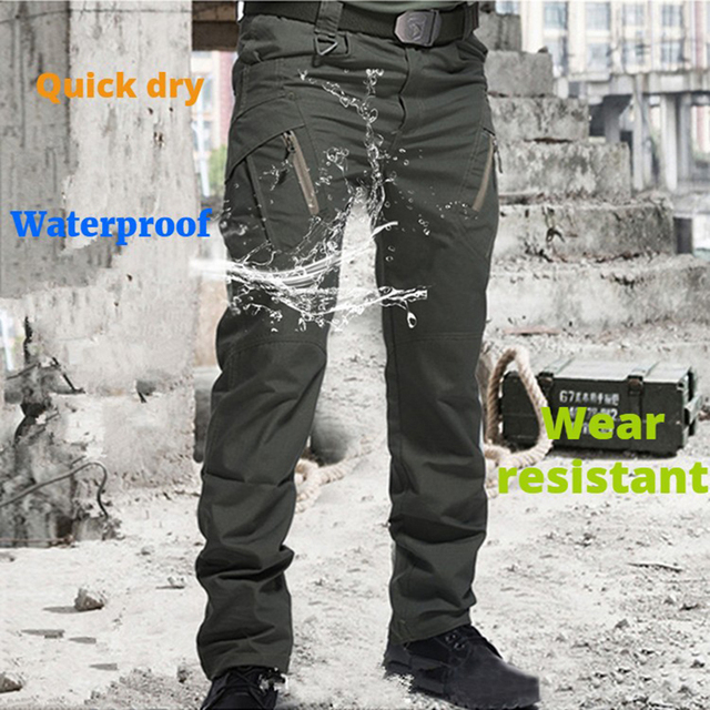 City Military Tactical Pants Men SWAT Combat Army Trousers Many Pockets Waterproof  Wear Resistant Casual Cargo Pants Men 2021 4
