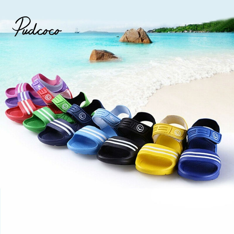 Pudcoco Girls Kids Toddler Baby Sandals Kids Boys 2020 Beach Casual Walking Summer Cool Breathable Sandals Shoes 4 Colors PVC