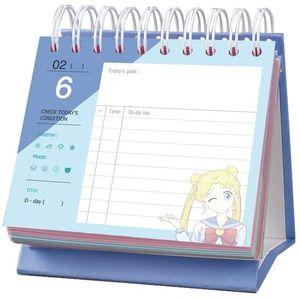 Image 3 - 2020 بحار القمر 365 يوم التقويم بنات الأزرق Kawaii اكسسوارات أنيمي بحار القمر Tsukino Usagi الأميرة الصفاء تأثيري هدية