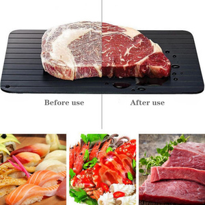 1pcs Fast Defrost Tray Fast Thaw Frozen Meat Fish Sea Food Quick Defrosting Plate Board Tray Kitchen Gadget Tool Dropshipping(China)