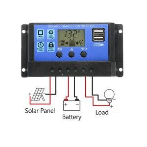Image 3 - Panel Solar de 30W y 12V células solares de salida USB Dual, Panel Solar de polímero, controlador de 10/20/30/40/50A para cargador de bote de coche y Yate