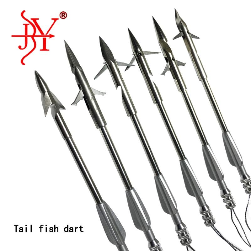 6pc Stainless Steel Arrowhead Slingshot Catapult Dart Hunting Shooting Fish Tool