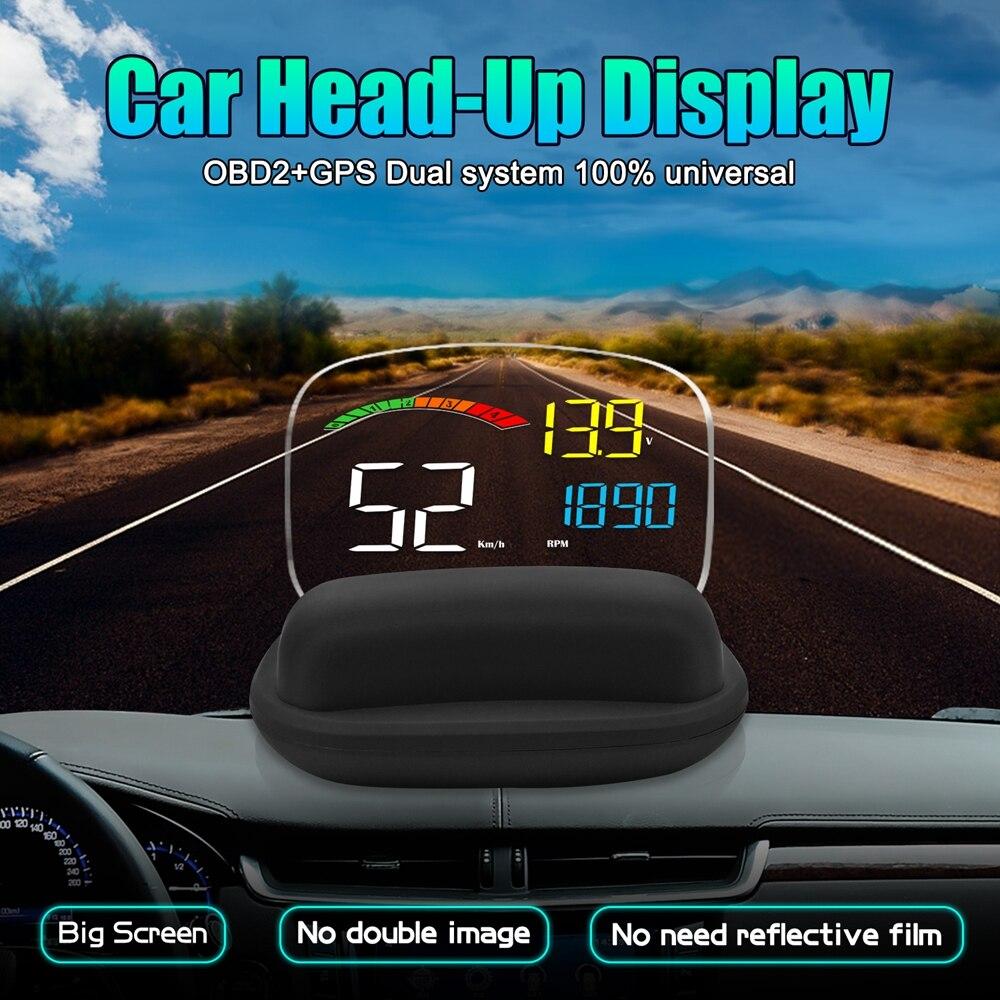 Дисплей на голову OBD II GPS датчик скорости Функция сигнализации практичный 2 в 1 HD C800 бортовой компьютер проектор скорости автомобиля HUD