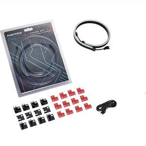 Image 5 - PHANTEKS ARGB Light Strip DIY Shape Decoration LED Strip 5V3Pin AURA 40/55/100CM Water Cooler Custom Lighting MOD Adjustable LED