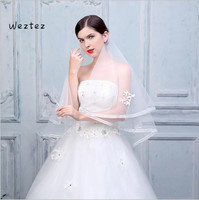 Wedding Veils Elegant White Puffy Tulle Length Short Bridal Veil With Comb Wedding Accessories TS293