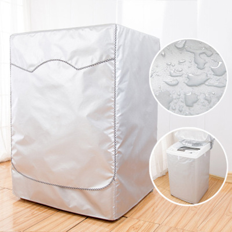 Wasmachine Deksel Waterdicht Cover Volautomatische Drum Oxford Doek Droger Zilver Polyester Stofdicht